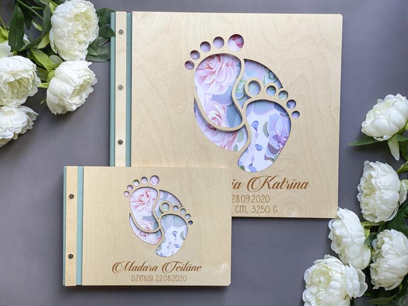 Foto albums Dizains Nr.3 ar ādas maliņu