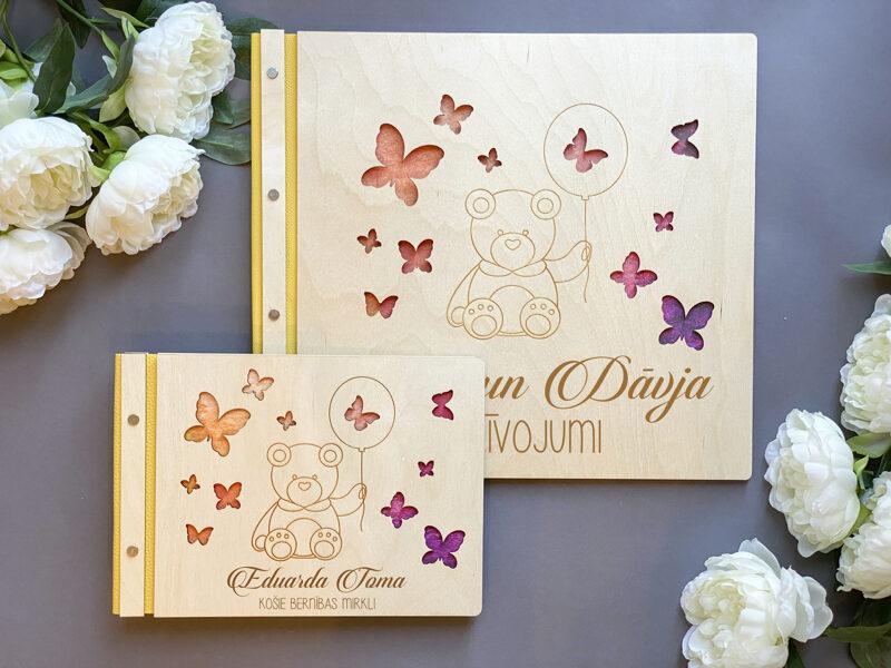 Foto albums Dizains Nr.4 ar ādas maliņu