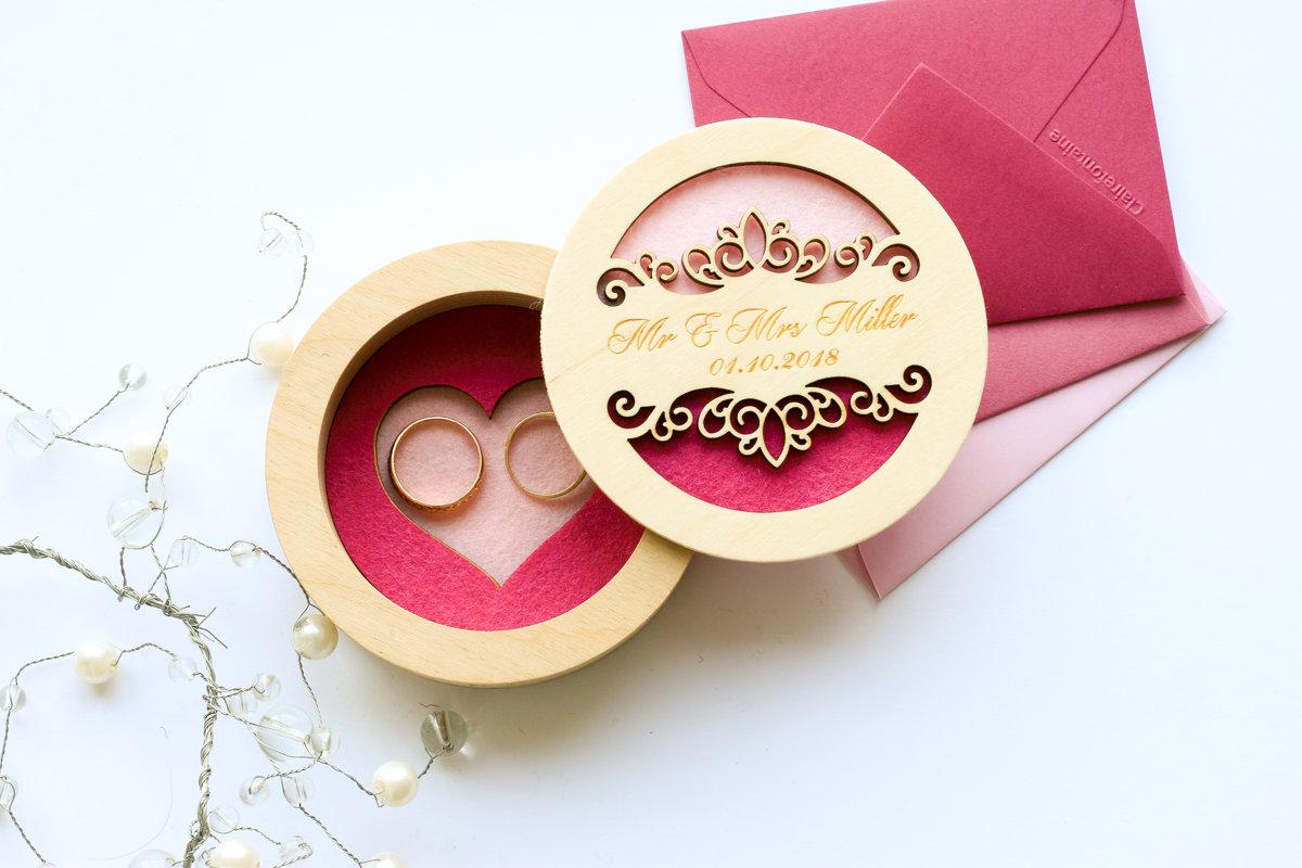 Divkrāsaina kārbiņa ar sirds iedziļinājumu pamatnē un ornamentu uz vāka